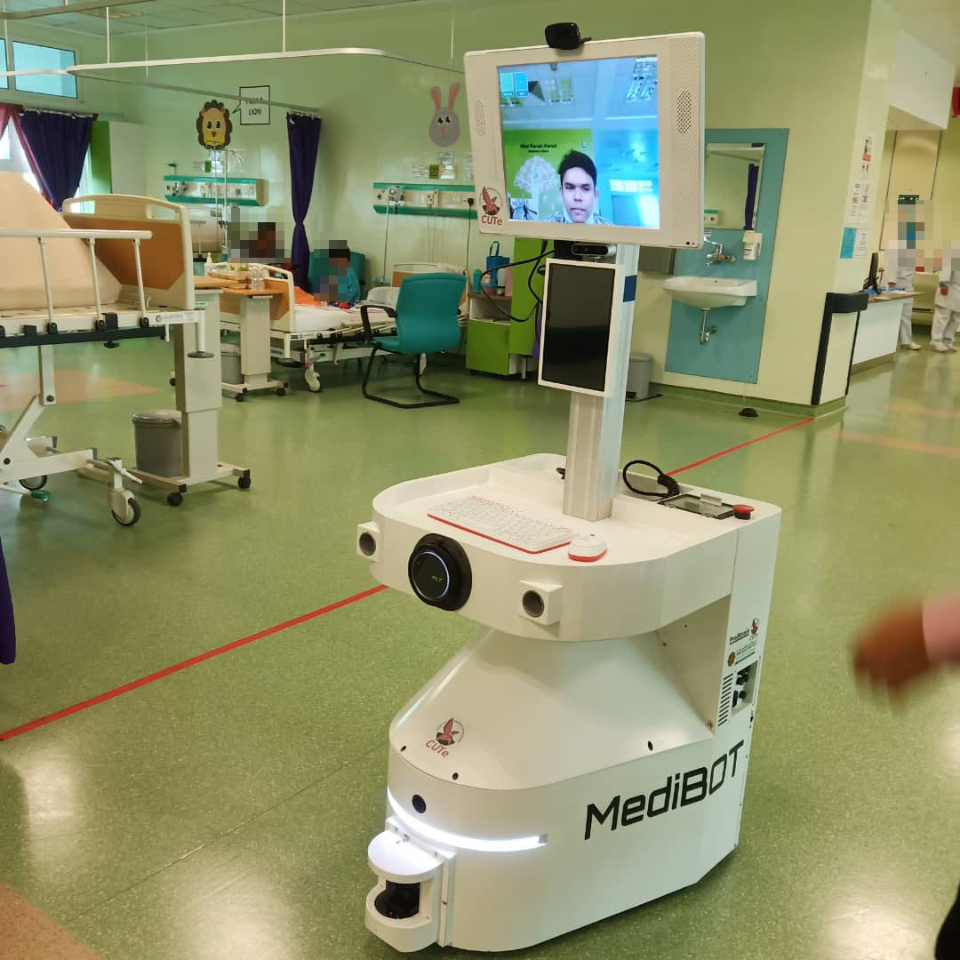 Medibot in action at IIUM Hospital